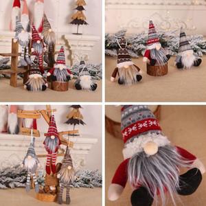 Ornement de Noël en peluche tricotée Gnome Doll Christmas Tree Tenture Pendentif Décor d'arbre de vacances cadeau Décorations WX9-1636
