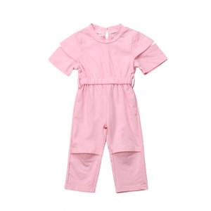 1-6T moda bambino bambini di estate delle neonate Solid pagliaccetto Playsuits tuta dei bambini vestiti estate 2019