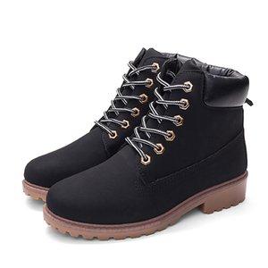 Caliente las botas del tobillo para las mujeres botas de camuflaje Martin para las mujeres zapatos de las mujeres del tamaño Plush cálido invierno botas botines Plus 42