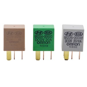 저렴한 자동차는 기아 12V OMRON 그린 / 골드 / 그레이 컬러 파워 릴레이 어셈블리에 대한 릴레이 1PC 자동차 바이올렛 릴레이 스위치