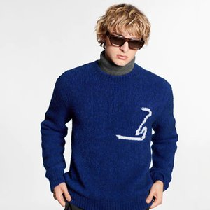 20SS Intarsia Crewneck Sweater Camisola Sólidos Rua Cor Homens Mulheres Knitting Pullover Hoodies outono inverno quente Outwear HFYMMY047