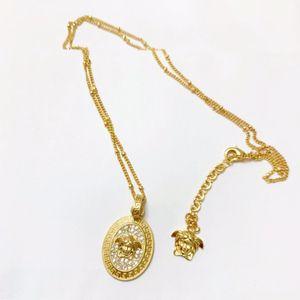 Hot sale luxury retro beauty avatar diamond designer jewelry luxury designer jewelry women designer necklace