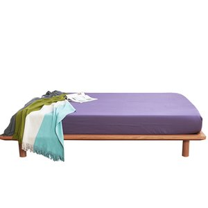 Bonenjoy Queen Size Bed Sheet with Elastic Microfiber King Size Fitted Sheet Purple Color Mattress Protector Single Sheet Sets