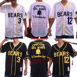 Bad News Bears Tanner Boyle # 12 Kelly Leak # 3 Baseball Jersey Bianco Black Chicos S-3XL Spedizione gratuita