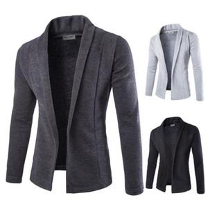 Кардиганы осень-весна V-образным вырезом Slim Fit свитер толстовки Мужские трикотажные повседневные
