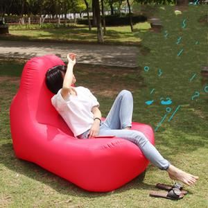 Portable de la silla plegable Ambiente colchón de aire inflable cama tela de nylon de 0,8 kg perezoso persona Sofá La inflación de la manera rápida 115rj N1