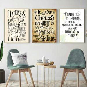 3 pannelli citazioni in Harry Potter HD stampa su tela pittura moderna Harry Potter Poster per camera dei bambini e ufficio Decor (senza cornice)