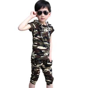 2019 Bebé Verano Traje de Niños Traje Adolescente Algodón Niño Niño Chándal Ropa de Niños Casual Camuflaje Ropa Boy Set J190716