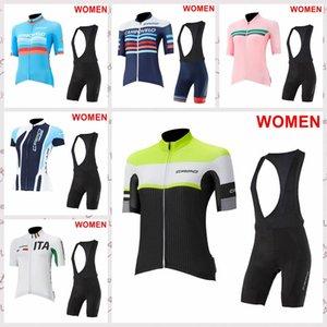 CAPO команды летних женщин Cycling коротких рукава трикотажных изделий нагрудник шорт наборы Джерси одежда Mountain Bike SPORTWEAR F61601