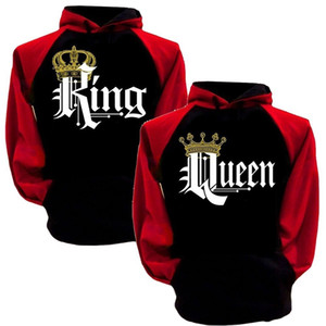 Couples Queen King Hoodie Women Designer Hoodies Print Couple Hoodies Print English Letter Printing Couple Sweater