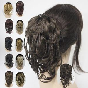 2019 Hivision super tresses Clip tressé en queue de cheval postiche Extensions de cheveux Clip Droite courte Griffe Pince Ponytails 11 couleurs sélectionnez