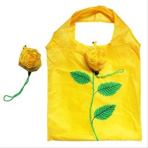 Rose Umweltschutz druckbare faltbare Einkaufseinkaufstasche tragbares Speicherpolyestertuch Umweltschutztasche