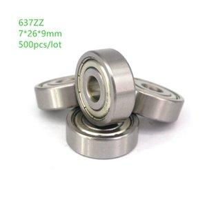 500pcs 637ZZ 637-ZZ 637 ZZ 7*26*9mm Deep Groove Ball bearing Miniature Ball Bearings 7x26x9mm
