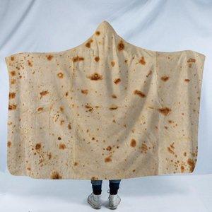 Cobertor com capuz México Tortilla Polenta Cake Design Tapete Manto Pad Inverno Keep Warm 150X130 Comfort The New 45jm C1