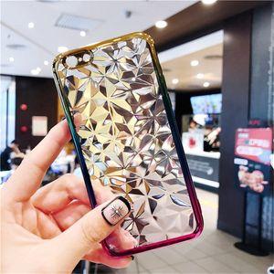 Per Samsung Note 8 S9 S8 Plus Crystal Plating Gradient Custodia in TPU per iPhone xs max