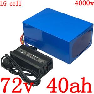 충전기 72V 40AH 72 72V3000W 리튬 배터리 4000W 전기 스쿠터 배터리 V 40AH 전기 자전거 배터리 사용 LG 휴대 전화