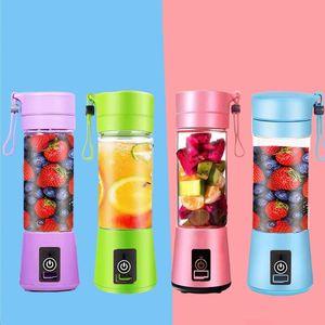 USB Blender Portable rechargeable 2/4/6 lame électrique de jus de fruits de légumes Extractor Handheld Maker Mini jus Faire Cup