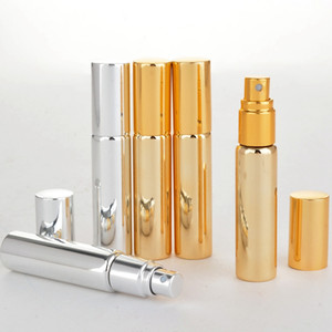 10 ml Cam Kaplama Sprey Şişe Boş Parfüm Şişesi Atomizer Slivery Glod Siyah Cam Parfüm Şişeleri Kozmetik Konteyner HHA652