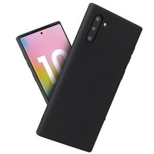 Şeker Renk İnce Mat Buzlu Yumuşak TPU Jel Silikon Kauçuk Kapak Kılıf için Samsung Galaxy S20 Ultra S10 E S9 S8 Not 10 Artı 9 8 M10 M20 M30