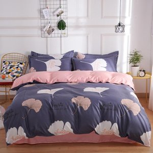 Designer Bed Comforters Sets double color Wine red and pink bed sheet bedding sets duvet cover Pillowcase KIng queen double