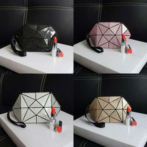 HOT Laser Babysbreath Semicircle Cosmetic Bag Geometric Patterns Super Large Capacity Cosmetic Bag Cosmetic bags Multifunction make-up bags