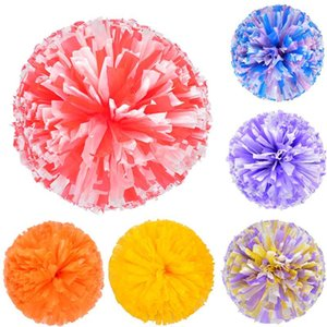 1 pezzo Colorfast Cheerleader Cheerleader Pom Poms Cheerleading Cheer Pompoms Pom Majorettes fiore della mano Aerobica sfere di sport