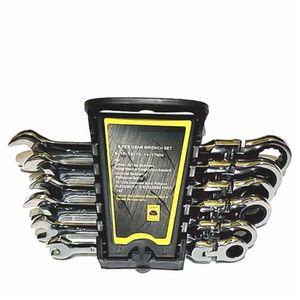 기어 렌치 세트 키 자전거 토크 렌치 조합 스패너 자동차 수리 도구에 오픈 엔드 렌치 활동 래칫 수리 도구를 설정