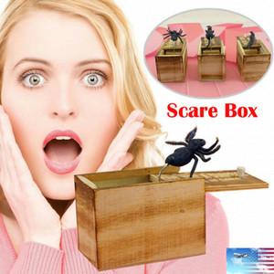 SICAK Komik Korku Kutusu Ahşap Prank Örümcek Gizli Durumunda Büyük Kalite Prank-Ahşap Scarebox İlginç Çal Trick Joke Oyuncak Hediye