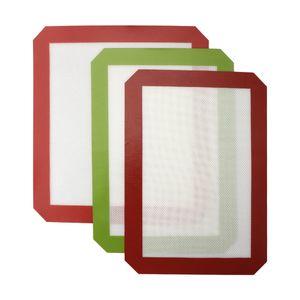 Antiadherente de silicona para hornear de silicona de grado alimenticio Mats fibra de vidrio del balanceo Hoja de cocina para hornear los pasteles Herramientas Dab Aceite de hierbas secas Hornear Pads Para Rig