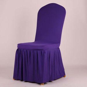 Saf Stretche Sandalye Kapak Otel Tek Koltuk Slipcover Yemek Odası Düğün Koltuk Kılıfı Ziyafet için Antimacassar Streç Etek