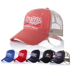 6 Style Trump Election Baseball Cap Patchwork Washed Outdoor Make America Great Again Hat Republican Mesh Sports Cap Party Hats HDHB317