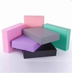 10pcs 15 * 15 * 5 cm Grau-Schwarz-Rosa-Papier Verpackung Karton Ornament / Schal / Tie Geschenkverpackung Papierkartonkasten