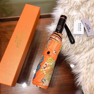 5 cores Últimas Unisex Guarda-chuvas Moda Impresso Homens Mulheres ensolarado chuvoso do guarda-chuva ao ar livre portátil amante Guarda-sol