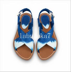 Moda Tie-Dye Sandali donna Sandali estate Appartamenti sexy della caviglia alta stivali gladiatore sandali donne degli appartamenti Casual scarpe da donna