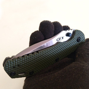 """أفضل EDC صفر التسامح 0560BW السكين عرقلة الأخضر G-10 Flipper 3.75 """"الرملي M390 بليد ZT أدوات الطي سكين في الهواء الطلق مجموعة"""