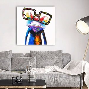 Modern Abstract Animals Frog with Glasses Home Decor Handcrafts  HD Print Oil Painting On Canvas Wall Art Canvas Pictures 200706