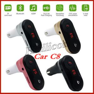 Adaptador Bluetooth Car C8 Transmissor FM Kit Bluetooth Car Mãos Livres FM Radio Adaptador com Saída USB Carregador de Carro PK B2 B3
