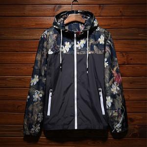 Mens Designer Brasão Casacos Outono nova marca Sun Proteção de alta qualidade finas Windbreakers Outdoor com capuz Esporte Camouflage Streetwear Jacket