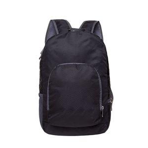 Men Women Backpack Unisex Fresh Solid Color Foldable Backpack Nylon Large Capacity Zipper Travel Students Schoolbag