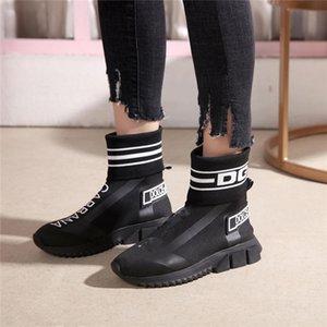 Модные тенденции мужские носки сапоги обувь мужская высокая-топ нескользящая летняя дышащая повседневная обувь толстые ботильоны G63082026