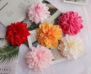 7 colores 15 CM Dahlia de seda cabeza de flor flores artificiales DIY Wedding Party Wedding Arch suministros de decoración