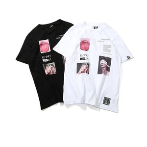 Erkek Komik Resim Baskılı Tişörtler Hip Hop Streetwear Tee O Boyun Pamuk Moda High Street Çift Giyim Tops