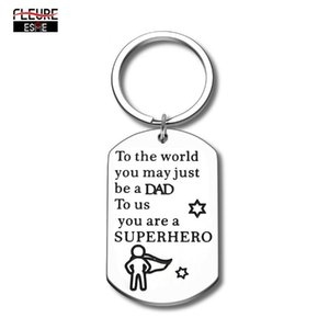 Dad Gifts Keychain for Father Puppy Step Dad from Son Daughter Car Keychains Gift for Birthday Gifts Father