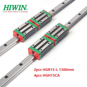 2pcs Nuovo originale HIWIN HGR15 - 1.300 millimetri lineare guida / guida + 4pcs HGH15CA lineare blocchi strette per cnc router parti