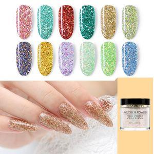 BORN 10ml BONITO Acrylic Powder Pink Glitter Sequins Polymer Pó dica extensão francês Nail Art Manicure