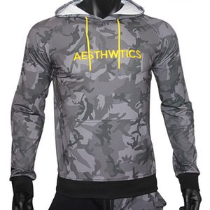 2019 gym New fashion men's New Autumn Pullover Hat-shirt, Youth Printed Sports Fitness Garment Men's Coat gym hoodies Sweater