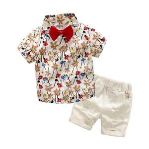 Conjuntos de Roupas Menino Bibicola 2019 Verão Novos Meninos Roupas Crianças Moda Listrado T-shrit + calças 2 pcs Para Crianças Roupas J190717