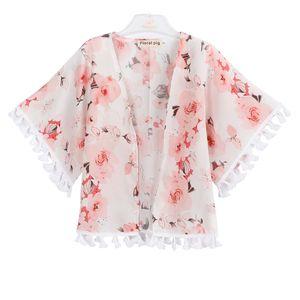 Bebê menina peônia outwear crianças manteau baby girl roupas de grife borboleta flor impressão casaco fino quatro estações 43