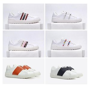 hot Club Party Footwear Classic Couple Casual Shoes Genuine Leather Mens Womens Sneakers Skateboarding Dress rivet Shoe Tennis