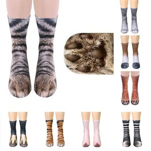 3D Printied Socks Women Funny Animal Foot Socks Kawaii Cat Tiger Cute Casual Fashion High Ankle Socks for Men Women Children